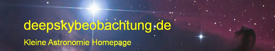 deepskybeobachtung.de  -  Kleine Astronomie Homepage